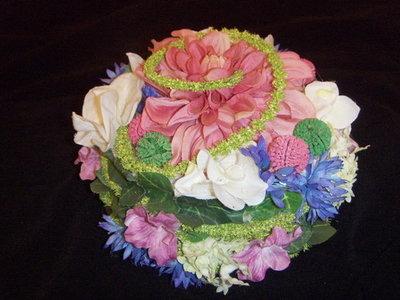 Bloemen taart (zijde)